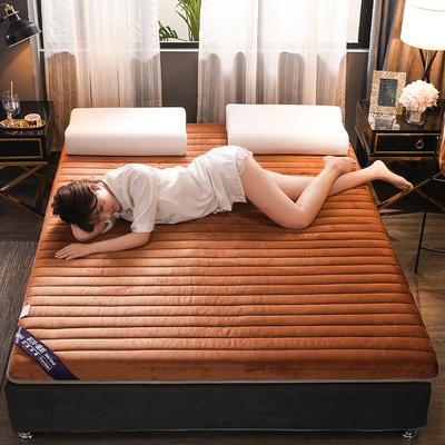 (總)伊先生寶寶絨有氧棉乳膠床墊專業定做6cm和10cm 0.9*1.9米 咖色(厚度6cm)