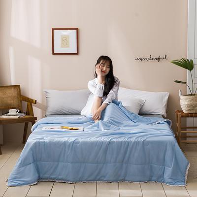 2020新款玻尿酸凉感丝夏被 150x200cm 纯色-蓝