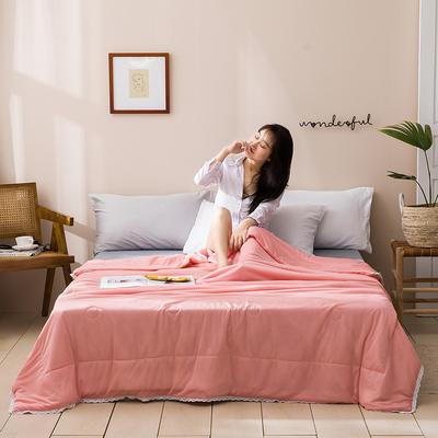 2020新款玻尿酸涼感絲夏被 150x200cm 純色-玉色