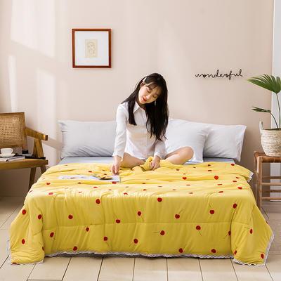 2020新款玻尿酸涼感絲夏被 150x200cm 櫻桃-黃