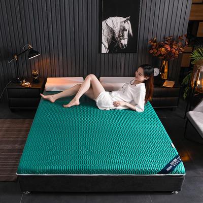 2020新款凉感丝乳胶记忆海棉床垫专业定做各种尺寸 90*190cm 单边凉感-墨绿6cm