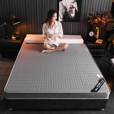 2020新款凉感丝乳胶记忆海棉床垫专业定做各种尺寸 90*190cm 立体凉感-灰9cm
