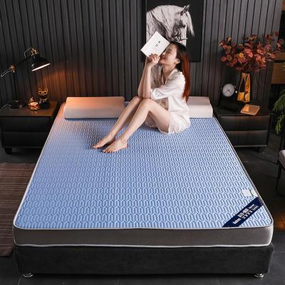 2020新款凉感丝乳胶记忆海棉床垫专业定做各种尺寸 90*190cm 立体凉感-蓝9cm