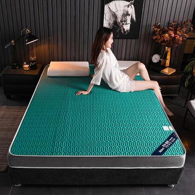 2020新款凉感丝乳胶记忆海棉床垫专业定做各种尺寸 90*190cm 立体凉感-墨绿9cm