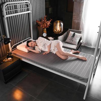 2020新款学生款凉感丝乳胶记忆海绵床垫专业定做 90*190cm单边6cm 凉感-灰
