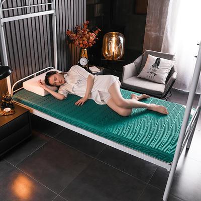 2020新款学生款凉感丝乳胶记忆海绵床垫专业定做 90*190cm单边6cm 凉感-墨绿