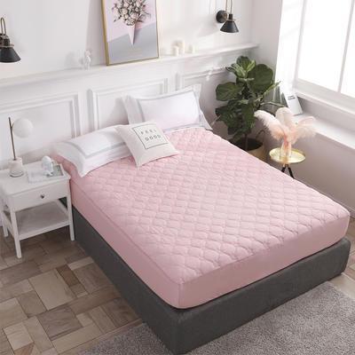 2020新款13372全棉素色加厚夹棉床笠 90*200cm(定做) 玫瑰粉玉