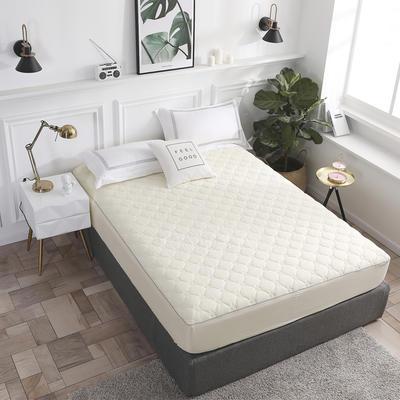 2020新款13372全棉素色加厚夹棉床笠 90*200cm(定做) 玫瑰米黄