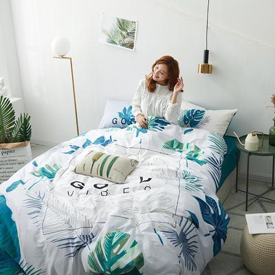 2019新款大版花型全棉四件套 单个枕套 好心情