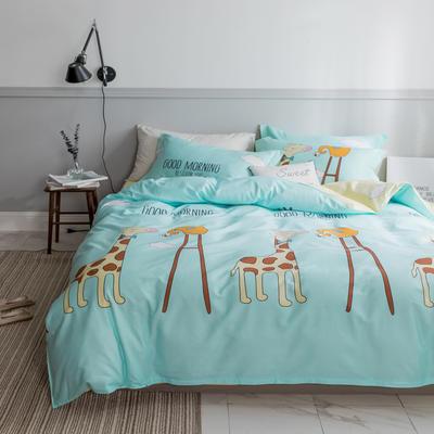 2019NEW纯棉40支12868全棉斜纹单品被套单件被罩30色(4个尺码) 配1.5X2.0米被芯使用 早安斑比