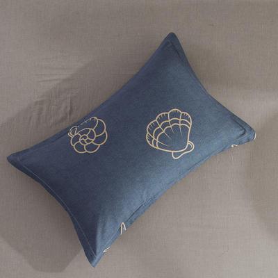 2019纯棉40支12868全棉斜纹印花枕套含纯色枕套16色(第一季) 48X74X1 海底世界