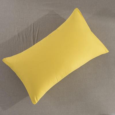 2019纯棉40支12868全棉斜纹印花枕套含纯色枕套69色(第一季) 48X74X1 果黄
