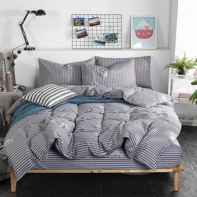 2019新款床笠式四件套15色多规格 1.5米床笠式/1.5米三件套 塔希里亚-咖