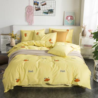 2019新款床笠式四件套15色多规格 1.5米床笠式/1.5米三件套 小黄鸭