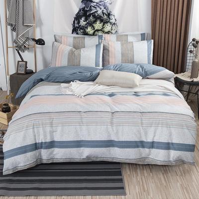 2019新款床笠式四件套15色多规格 1.5米床笠式/1.5米三件套 城市律动