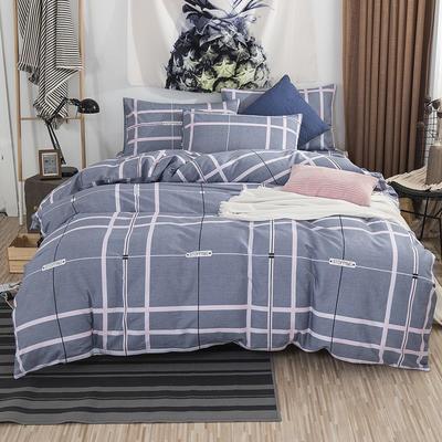 2019新款床笠式四件套15色多规格 1.5米床笠式/1.5米三件套 格瑞斯灰