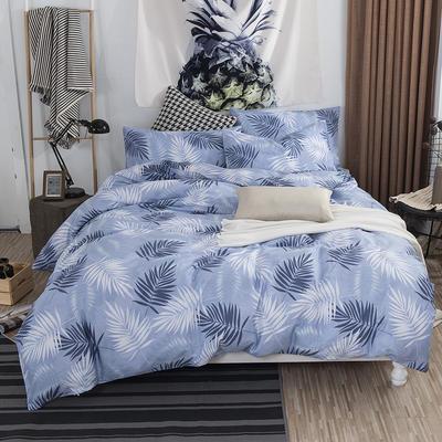 2019新款床笠式四件套15色多规格 1.5米床笠式/1.5米三件套 森林幻想
