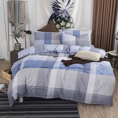 2019新款床笠式四件套15色多规格 1.5米床笠式/1.5米三件套 优雅生活兰