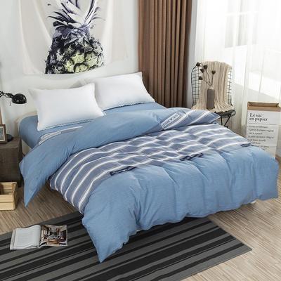 2019NEW纯棉40支12868全棉斜纹单品被套单件被罩30色(4个尺码) 配1.5X2.0米被芯使用 伦敦之夜蓝灰