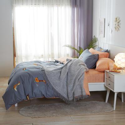 2020新款全棉床单被套枕套网红冻龄风唯美系新品13070纯棉三件套四件套(22色3码) 0.9/1.2米床三件套 精灵
