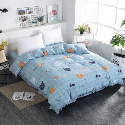 2019NEW纯棉40支12868全棉斜纹单品被套单件被罩30色(4个尺码) 配1.5X2.0米被芯使用 卡哇伊