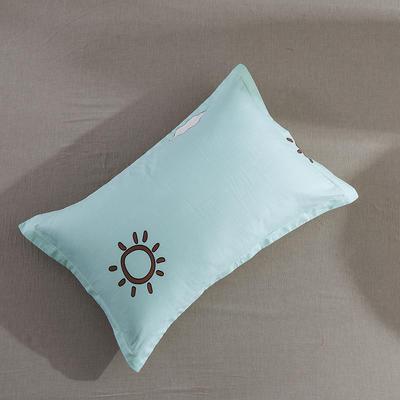 2019纯棉40支12868全棉斜纹印花枕套含纯色枕套69色 48X74X1 早安斑比