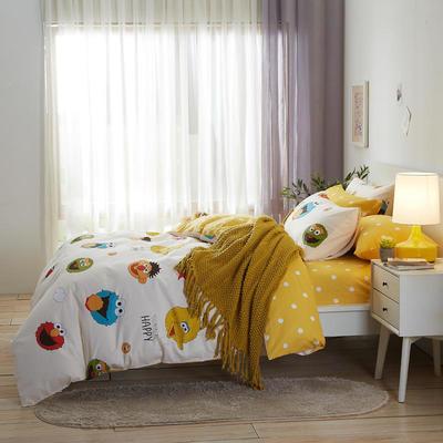 2020新款全棉床单被套枕套网红卡通风儿童系新品13070纯棉三件套四件套(20色7码) 0.9/1.2米床三件套 卡米