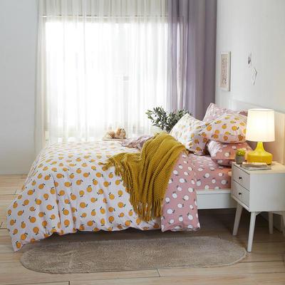 2020新款全棉床单被套枕套网红卡通风儿童系新品13070纯棉三件套四件套(20色7码) 0.9/1.2米床三件套 青檬