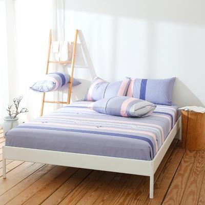 2019新款全棉纯棉单件床笠 150cmx200cm 科洛依紫