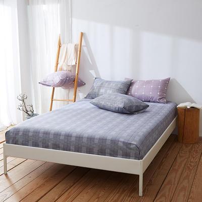 2019新款全棉纯棉单件床笠 150cmx200cm 巴黎之约灰