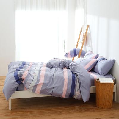 2019新款全棉三件套纯棉四件套(床笠式) 1.5X2.0米床用(三件套) 科洛依紫