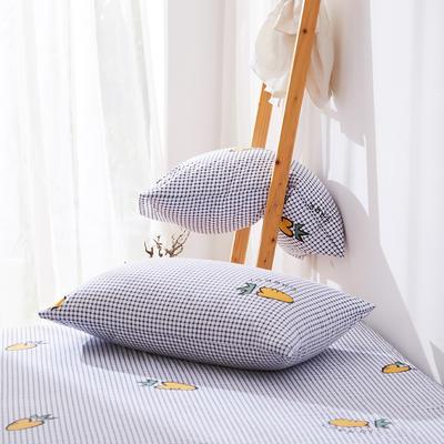 2019纯棉40支12868全棉斜纹印花枕套含纯色枕套69色 48X74X1 爱萝卜
