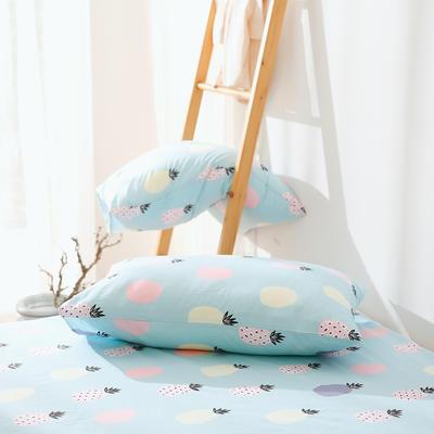 2019纯棉40支12868全棉斜纹印花枕套含纯色枕套69色 48X74X1 舒意菠萝兰