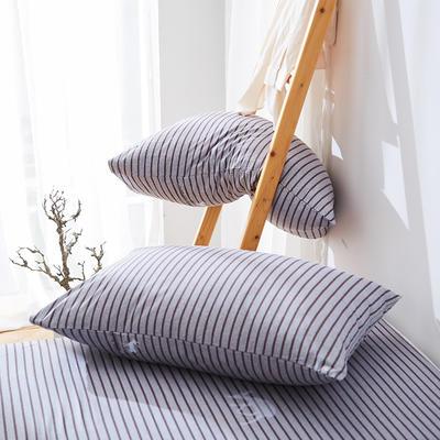 2020纯棉40支12868全棉斜纹印花枕套含纯色枕套68色 48X74X1 塔希里亚-咖