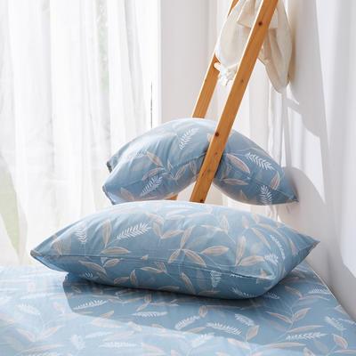 2019纯棉40支12868全棉斜纹印花枕套含纯色枕套69色 48X74X1 意暖时光