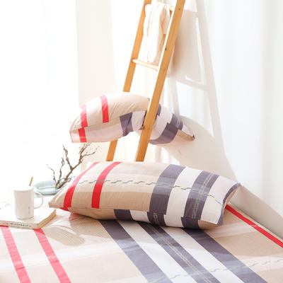 2019纯棉40支12868全棉斜纹印花枕套含纯色枕套69色 48X74X1 英伦风情