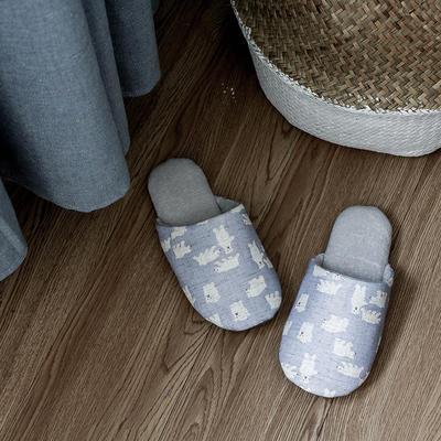 F1703棉麻小动物家居鞋 M女款(38-39) 北极熊
