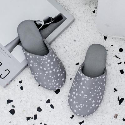 F1706儿童卡通家居鞋 XS(34-35) 星星款灰色