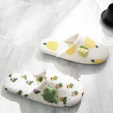 F1707菠萝仙人掌家居鞋