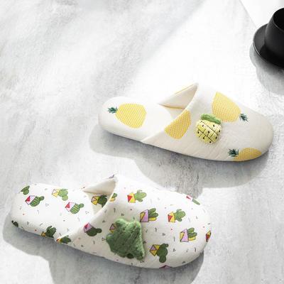 F1707菠萝仙人掌家居鞋 女均码(39码内可穿) 仙人掌