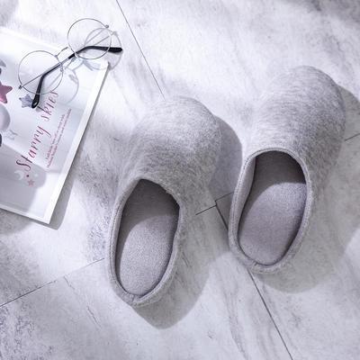 K2004纯色针织家居鞋 M(38-39) 浅灰