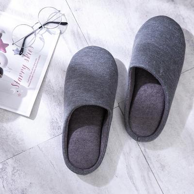 K2004纯色针织家居鞋 XL(42-44) 深灰