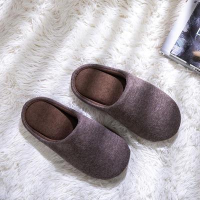 K2004纯色针织家居鞋 XL(42-44) 棕色