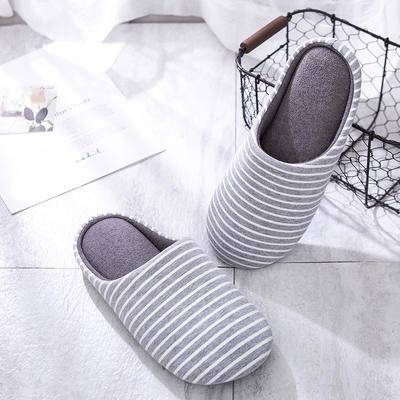 K2006条纹家居鞋2 XL(42-44) 浅灰