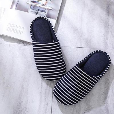 K2006条纹家居鞋2 XL(42-44) 藏青