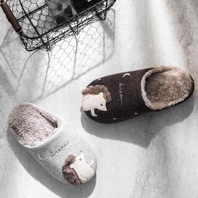 K2017刺猬贴布绣家居鞋 M(38-39) 浅灰(女款)