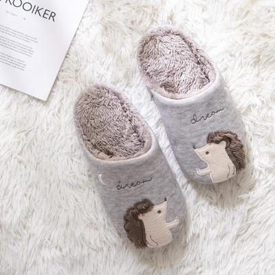 K2025松鼠贴布绣家居鞋 S(36-37) 米色