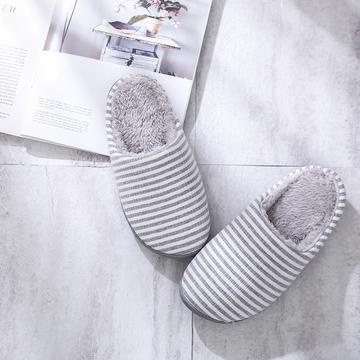 K2028条纹加绒家居鞋2