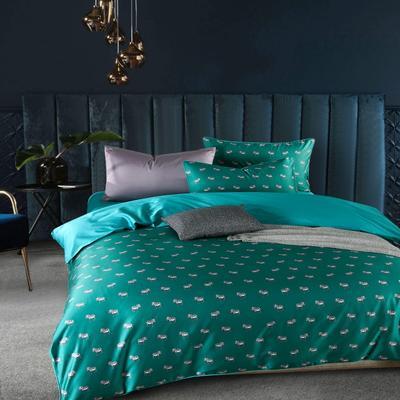 2019新款-60支长绒棉数码印花四件套 1.5m(5英尺)床 斑马斑马绿色