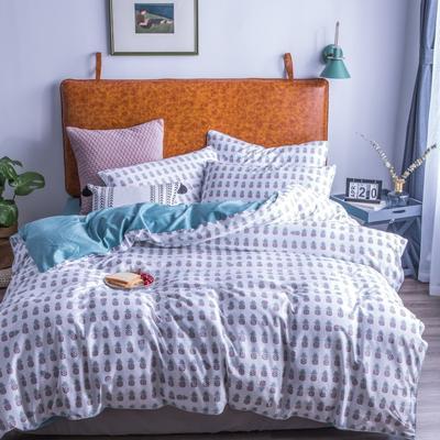 2019新款-60支长绒棉数码印花四件套 1.5m(5英尺)床 菠萝之夏